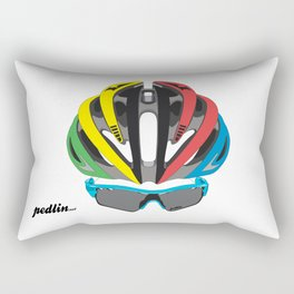 Cycling Face Rectangular Pillow