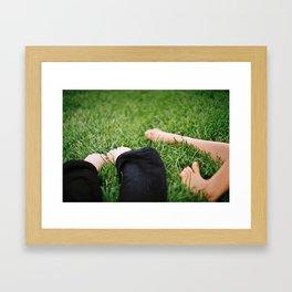 Grass Feet Framed Art Print