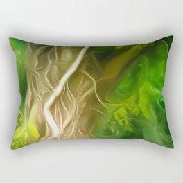 Dream Light Green Tree Rectangular Pillow