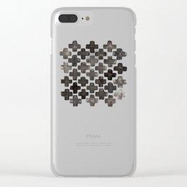 Black & White Crosses - Katrina Niswander Clear iPhone Case