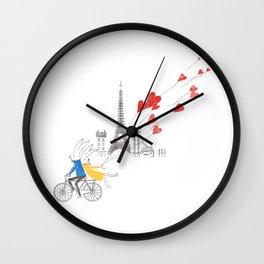 Paris in Love Wall Clock