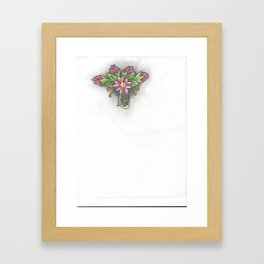 Number Seven Framed Art Print