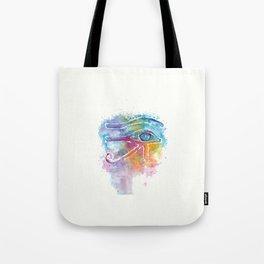 Eye of Horus Watercolor Illustration Tote Bag