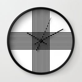 """ Pattern Collection "" - Geometric Cross Lines Wall Clock"