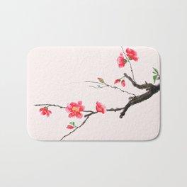 red Japan begonia Bath Mat