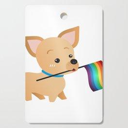 LGBT Gay Pride Flag Chihuahua Cutting Board