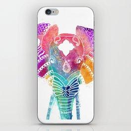 Colorful Elephant iPhone Skin