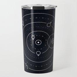 Planets symbols solar system Travel Mug