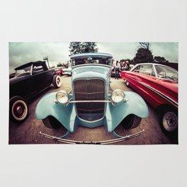 vintage cars Rug