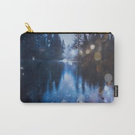 Magical Blue Forest Water Reflection - Nature Photography Carry-All Pouch