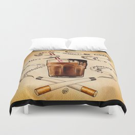 Cigarettes and Chocolate Milk Duvet Cover
