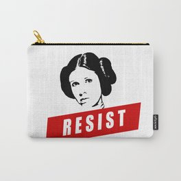 Princess Leia RESIST Star War black white red join the resistance Carry-All Pouch