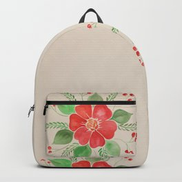 Red Pansies Backpack