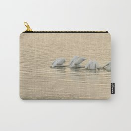 Whimsical White Pelicans Dance Carry-All Pouch