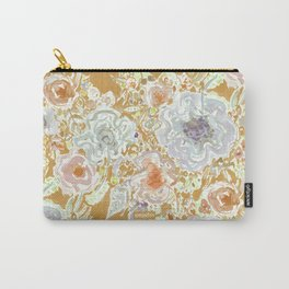 GROOVY PARADISE Golden Hibiscus Floral Carry-All Pouch