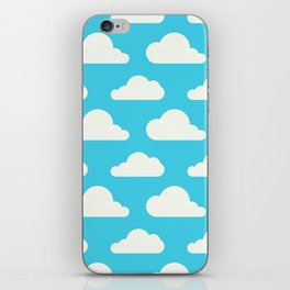 Fluffy clouds iPhone Skin