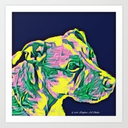 Yellow Dog 6 Art Print