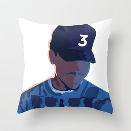 Coloring Book - Chance the Rapper Throw Pillow