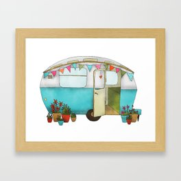 Blue Caravan Framed Art Print