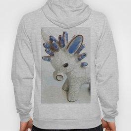 Modern Donkey Illustration with blue hair Hoody