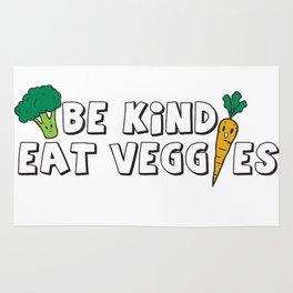 Be Kind Eat Veggies Rug