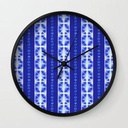 Shibori strips Wall Clock