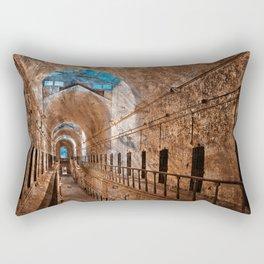 Prison Corridor - Sepia Blues Rectangular Pillow