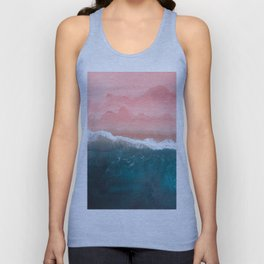 Turquoise Sea Pastel Beach II Unisex Tank Top