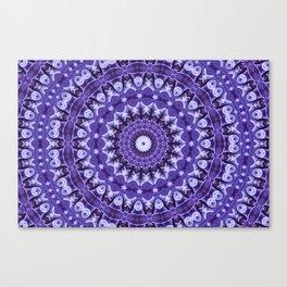 Kaleidoscope Purple Silk Canvas Print