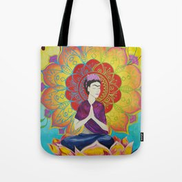 Frida Transcending Mandala and Lotus Blossom Tote Bag