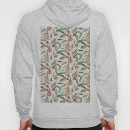 Peach and leaves Hoody
