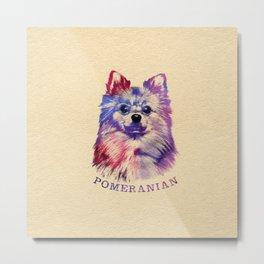 Cute Pomeranian German Spitz Metal Print