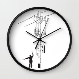 Tokyo Electric Pole Wall Clock