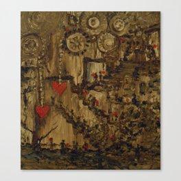 Steampunk Manufactured Love Canvas Print