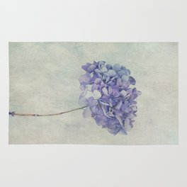 Beautiful Blue Hydrangea Rug