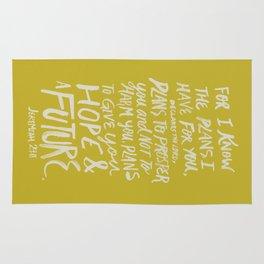Jeremiah 29: 11 x Mustard Rug