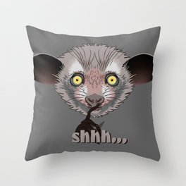 Aye-Aye Lemur Throw Pillow
