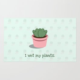 I Wet My Plants Rug