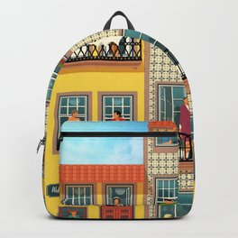 Porto Houses - Portugal Backpack