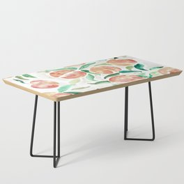 Watercolor Peaches Coffee Table