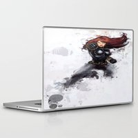 black widow Laptop & iPad Skins featuring Black Widow by Isaak_Rodriguez
