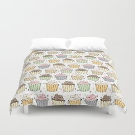 Cupcake Love Pattern -Food Pattern Duvet Cover