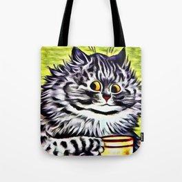 "Louis Wain's Cats ""Kitty On Coffee Break"" Tote Bag"