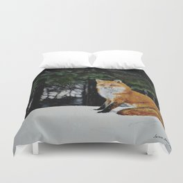 Red Fox of Algonquin by Teresa Thompson Duvet Cover