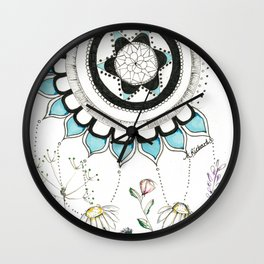 Abstract Mandala Flower Wall Clock