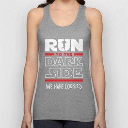 Run To The Dark Side, We Have Cookies Unisex Tank Top