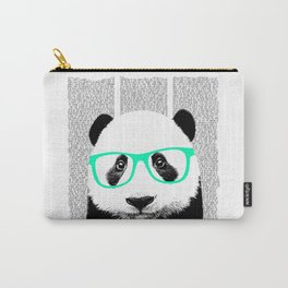 Panda with teal glasses Carry-All Pouch