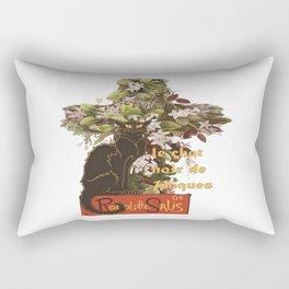 Easter Le Chat Noir de Paques With Floral Cross Rectangular Pillow