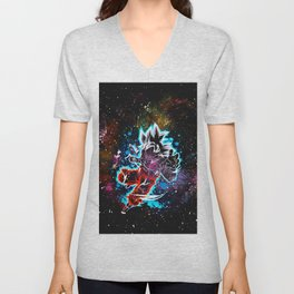 son goku art Unisex V-Neck