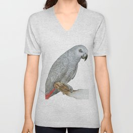 African Grey Parrot Unisex V-Neck